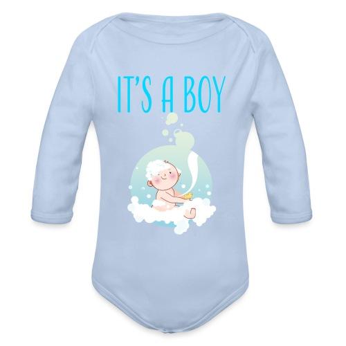It's a Boy Badewanne. Witzige Umstandsmode T-Shirt - Baby Bio-Langarm-Body