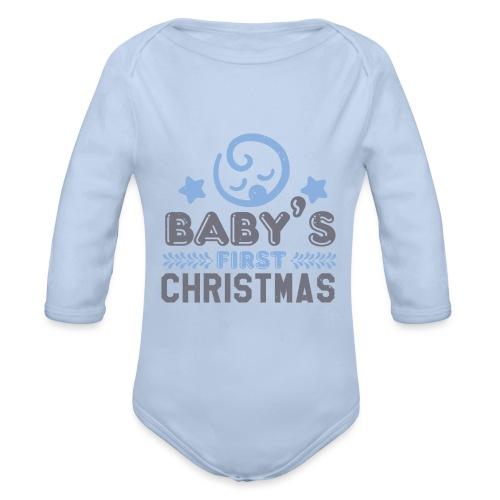 Baby`s First Christmas - Baby Bio-Langarm-Body