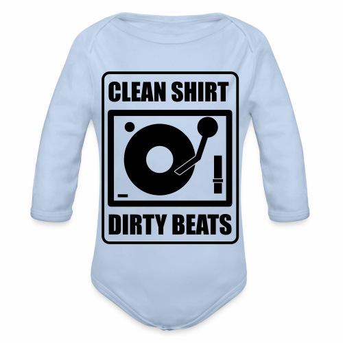 Clean Shirt Dirty Beats - Baby bio-rompertje met lange mouwen