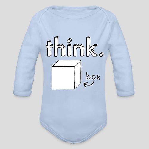 Think Outside The Box Illustration - Organic Longsleeve Baby Bodysuit