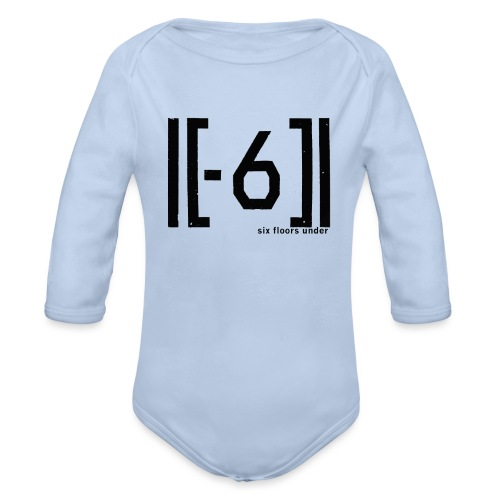 Six Floors Under Black - Organic Longsleeve Baby Bodysuit