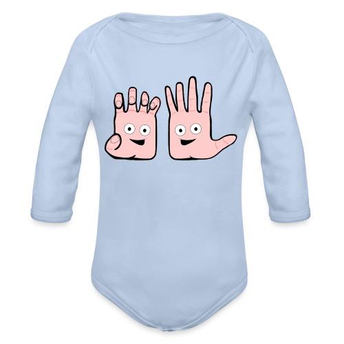 Winky Hands - Organic Longsleeve Baby Bodysuit