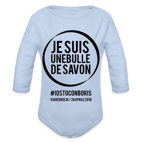 #iostoconboris - Body ecologico per neonato a manica lunga