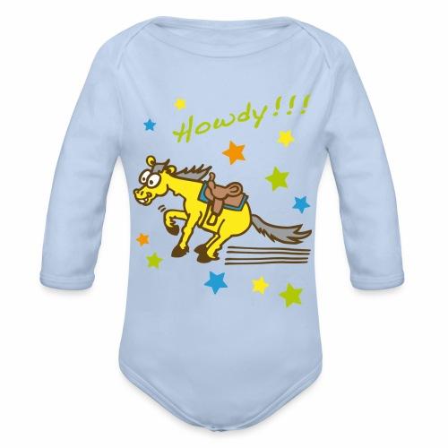 Howdy Westernpony - Baby Bio-Langarm-Body