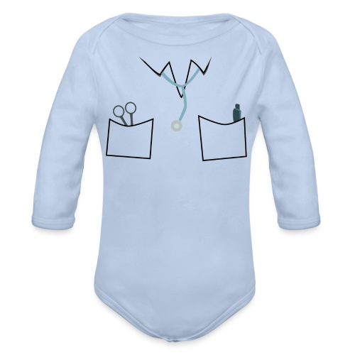 Scrubs tee for doctor and nurse costume - Organic Longsleeve Baby Bodysuit
