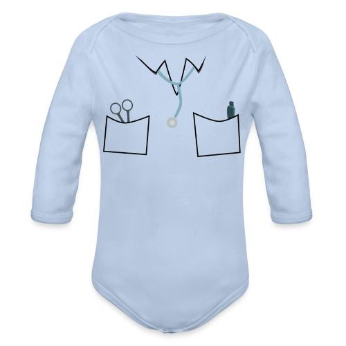 Scrubs tee for doctor and nurse costume - Organic Longsleeve Baby Bodysuit