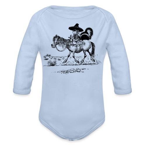 Thelwell Cowboy mit einem Stinktier - Baby Bio-Langarm-Body