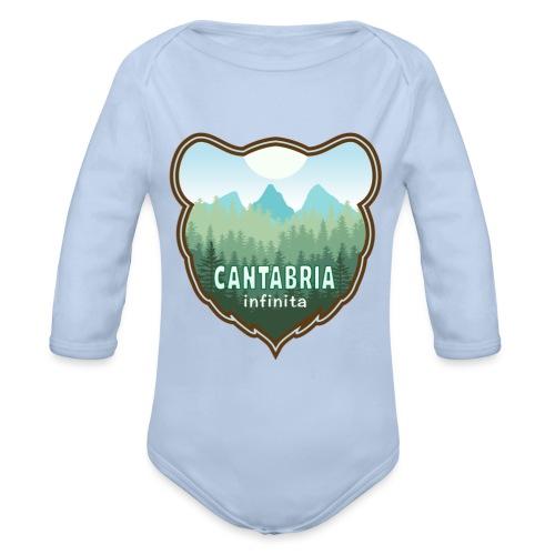 Oso en cantabria infinita - Body orgánico de manga larga para bebé
