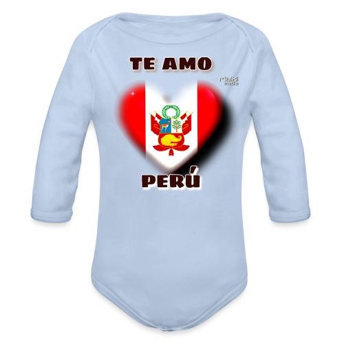 Te Amo Peru Corazon - Baby Bio-Langarm-Body