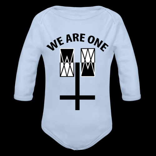 WE ARE ONE x CROSS - Baby bio-rompertje met lange mouwen