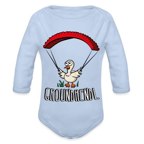 Groundhendl Paragliding Huhn - Baby Bio-Langarm-Body