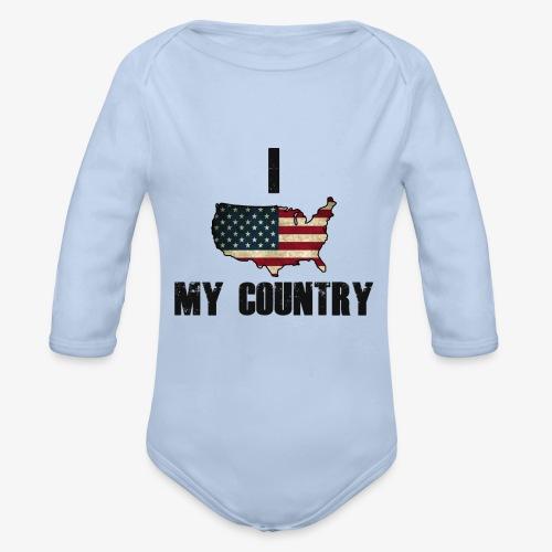 I love my country - Baby bio-rompertje met lange mouwen