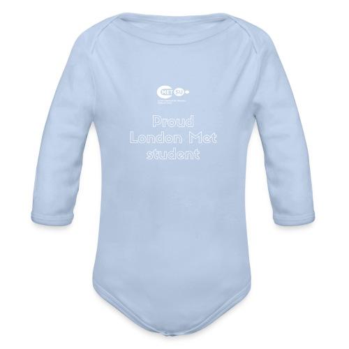 Proud London Met student - Organic Longsleeve Baby Bodysuit