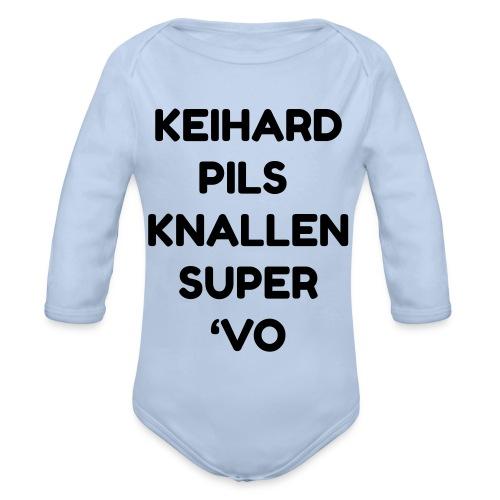 Keihard pils knallen - Baby bio-rompertje met lange mouwen