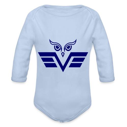 blue owl - Organic Longsleeve Baby Bodysuit