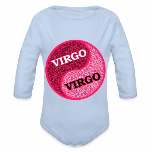 Virgo and Virgo Zodiac Sign Woman Love Mug - Organic Longsleeve Baby Bodysuit