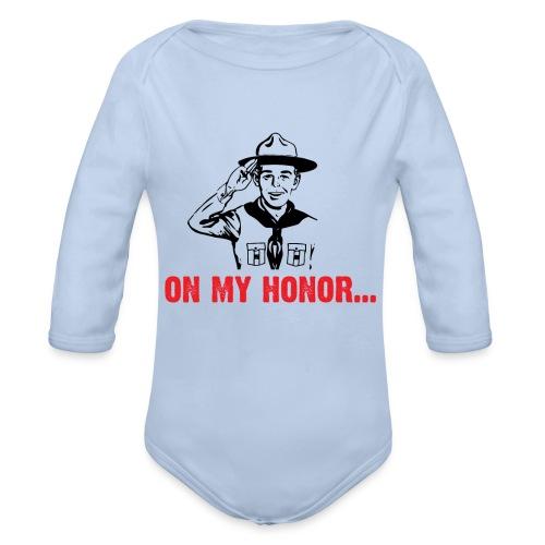 On my Honor... - Body Bébé bio manches longues