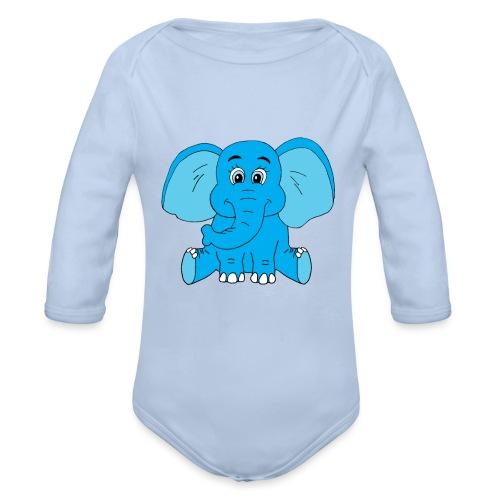 Baby Elefant - Baby Bio-Langarm-Body