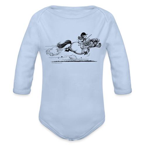 Thelwell Cartoon Pony Sprint - Baby Bio-Langarm-Body