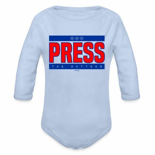 Press the buttons - Baby bio-rompertje met lange mouwen