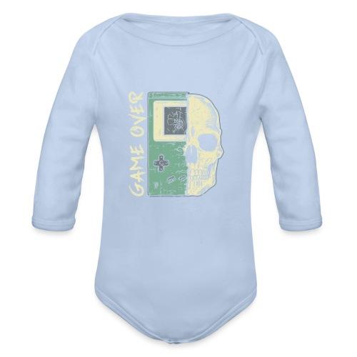 Game over Gaming Spruch Outfit für Zocker Gamer - Baby Bio-Langarm-Body