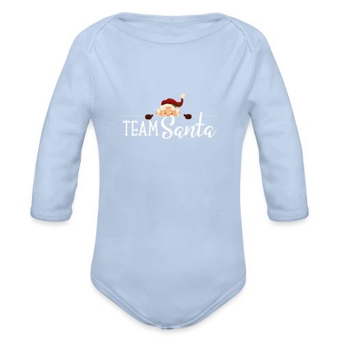 Team Santa Outfit für Familien Weihnachtsoutfit - Baby Bio-Langarm-Body