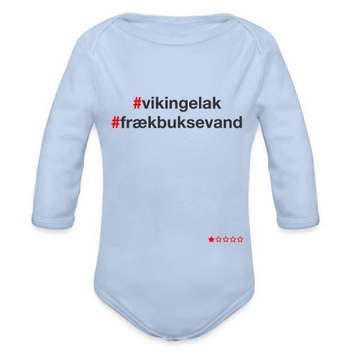 Hashtag - Langærmet babybody, økologisk bomuld