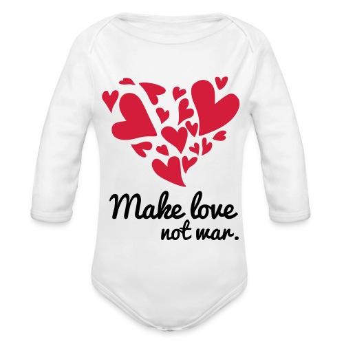 Make Love Not War T-Shirt - Organic Longsleeve Baby Bodysuit