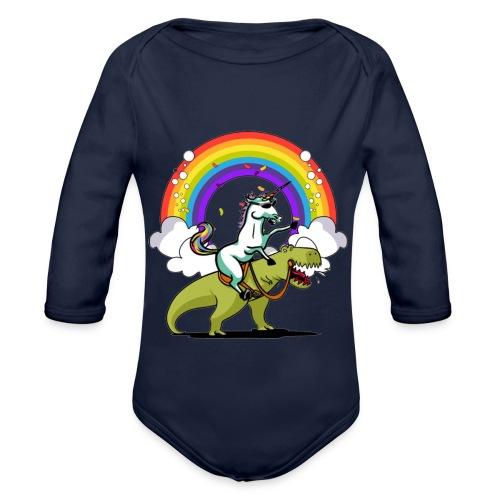 Unicorn Riding Ninja - Vauvan pitkähihainen luomu-body