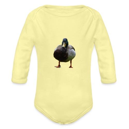 A lone duck - Organic Longsleeve Baby Bodysuit