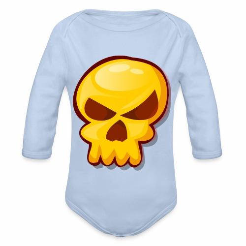 Golden Skull - Body orgánico de manga larga para bebé