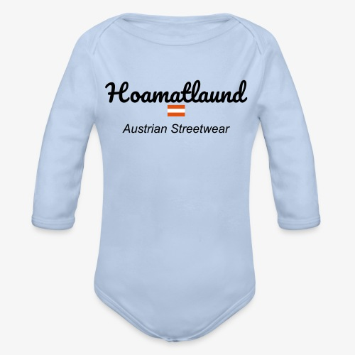 hoamatlaund austrain Streetwear - Baby Bio-Langarm-Body