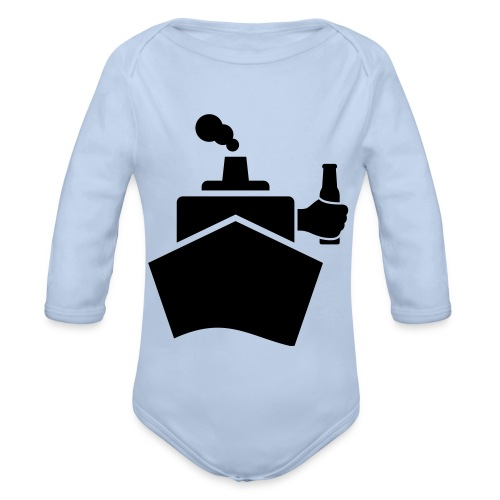 King of the boat - Baby Bio-Langarm-Body