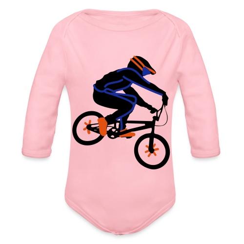 BMX Rider Dark - Baby bio-rompertje met lange mouwen