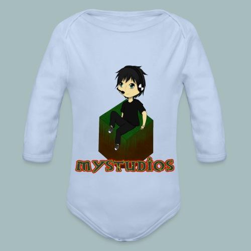 Mystudios Ansteck Button - Baby Bio-Langarm-Body