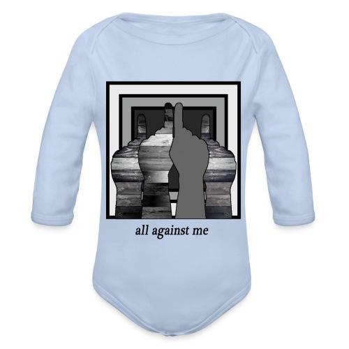 ALL AGAINST ME-2 - Body orgánico de manga larga para bebé