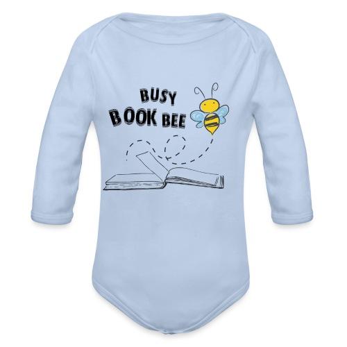 Bees5-2 Bienen und Bücher | save the bees - Organic Longsleeve Baby Bodysuit