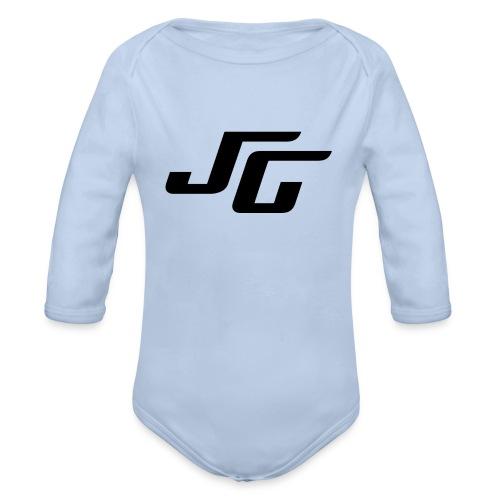 JG Logo schwarz - Baby Bio-Langarm-Body