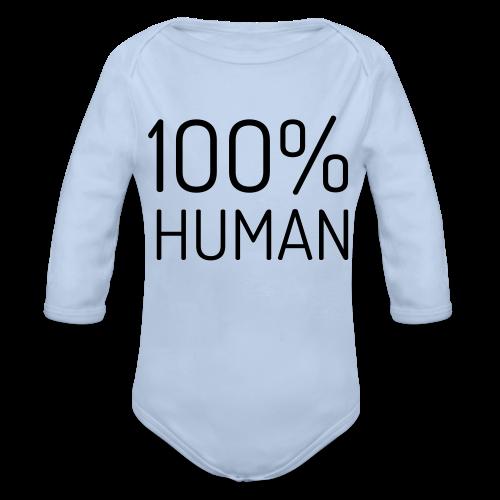100% Human - Baby bio-rompertje met lange mouwen