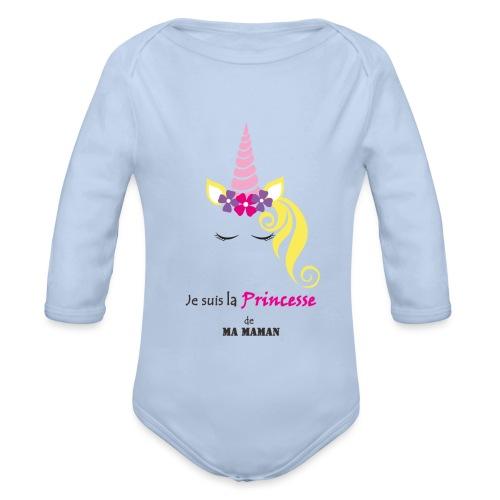 princesse de maman2 - Body Bébé bio manches longues