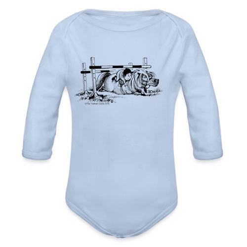 PonyFall Thelwell Cartoon - Organic Longsleeve Baby Bodysuit