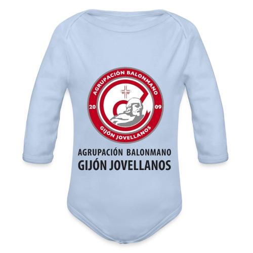 Escudo Gijón Jovellanos - Body orgánico de manga larga para bebé