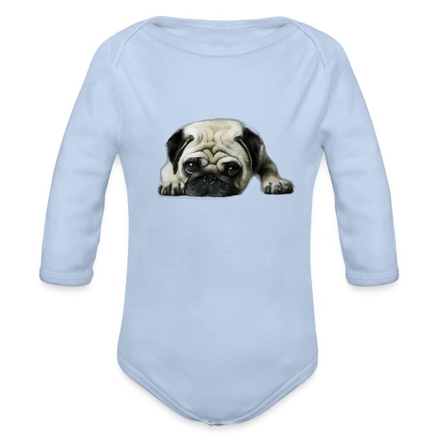 Cute pugs - Body orgánico de manga larga para bebé