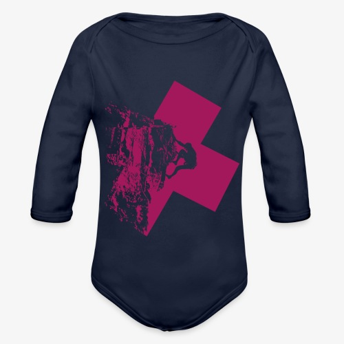 Climbing away - Organic Longsleeve Baby Bodysuit