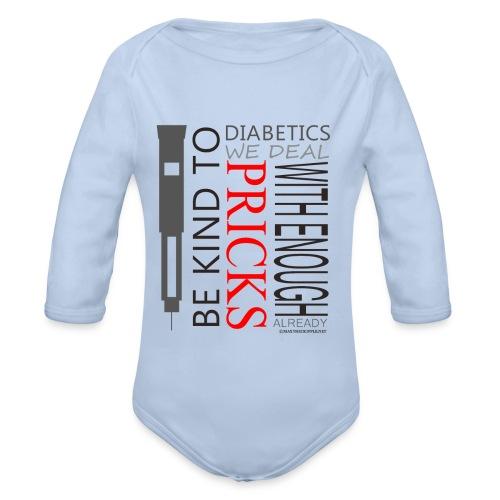 Be Kind To Diabatics (Kids) - Organic Longsleeve Baby Bodysuit