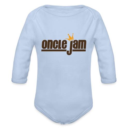 Oncle Jam horizontal brun - Body Bébé bio manches longues