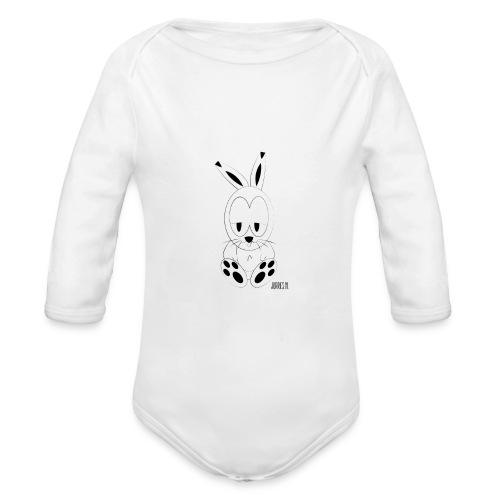 rabbe shirt url png - Baby bio-rompertje met lange mouwen