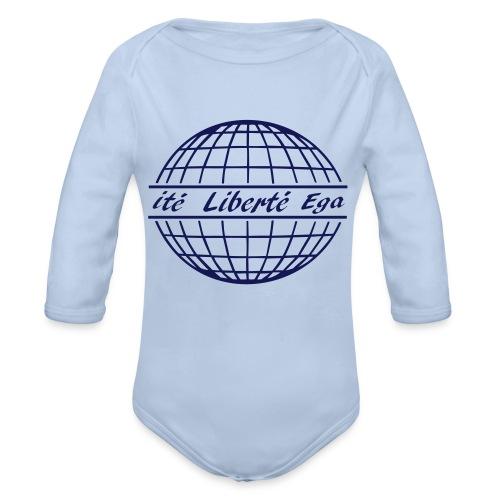 liberté egalité fraternité free world - Baby Bio-Langarm-Body