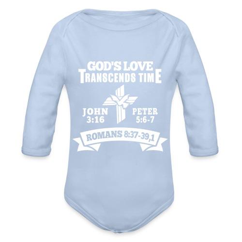 God's love white - Organic Longsleeve Baby Bodysuit