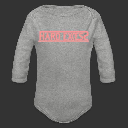 HARD EXCESS Logo schwarz - Baby Bio-Langarm-Body